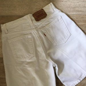 Vintage 1993 551 Levi's High Waisted White Shorts